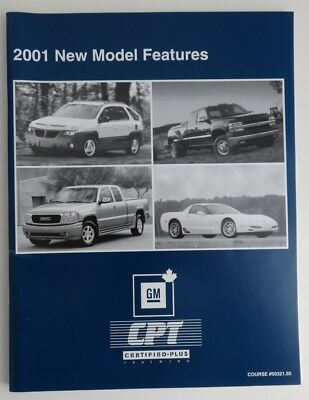 2001 New Model Features Gm Service Know How Manual   (Inv1861)