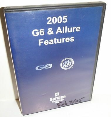 2005 G6 And Allure Features  Gm Service Know Instrucional Video Dvd