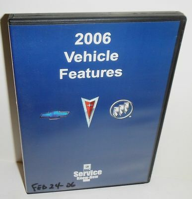 2006 Vehicle Features  Gm Service Know Instrucional Video Dvd