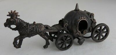 Vintage Made In Hong Kong Diecast Horse & Carriage Pencil Sharpener    (Inv5447)