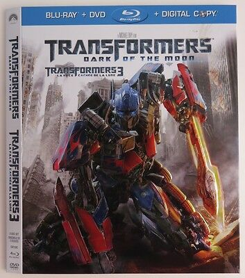 No Discs !! Transformers Blue-Ray Dvd Cover Slip Only - No Discs !!   (Inv1675)