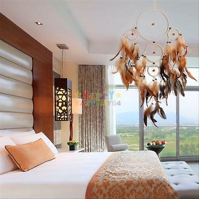 """Handmade Dream Catcher with feather wall hanging decoration ornament Long 29"""""""