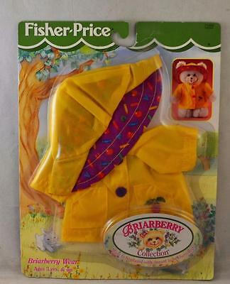 1998 Fisher Price Briarberry Wear Collection Rain Coat and Hat Set #71502