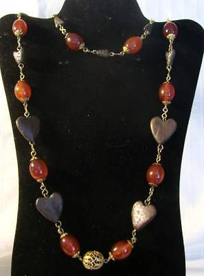 Rare Silver Amber N African Bedouin - Berber Ethnic Tribal Necklace Beautiful!!