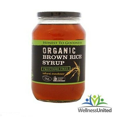 ORGANIC BROWN RICE SYRUP 1kg (also known as rice malt) FRUCTOSE FREE, FODMAP OK