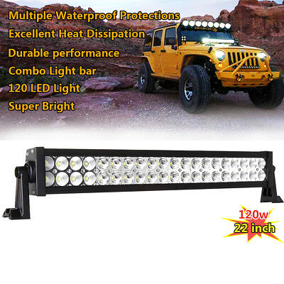 SUPER BRIGHT 24inch 120W Led Work Light Bar Driving SUV Offroad Jeep 4WD 20 22