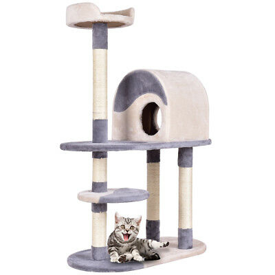 130CM Kitten Cat Tree Toy Scratching Climbing Post Activity Exercise Playground