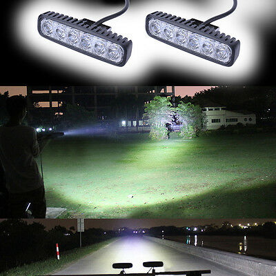 2X18W Car LED Work Light Bar Offroad Fog Reversing SUV UTE Boat Driving Lamps