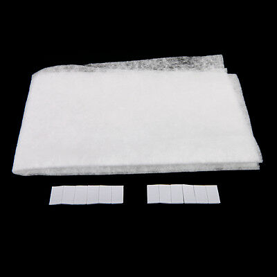 2 in 1 Range Hood Grease Filter Lampblack Filtration Nonwoven Cloth White