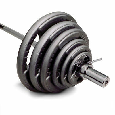 90kg Olympic Weight Set + 7ft Bar Straight Bar (20kg) Barbell + 70kg Plates