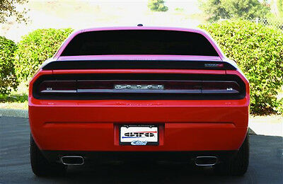 2008-14 Dodge Challenger RT GTS Acrylic Taillight Center Panel Cutout Smoke 3pc