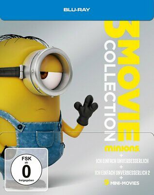 Minions - 3 Movie Collection (Teil 1+2+3) / Limited Steelbook # 3-BLU-RAY-NEU