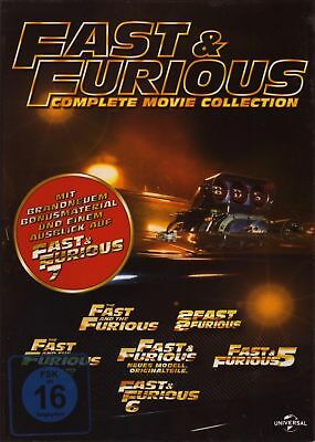 Fast & Furious 1+2+3+4+5+6 - 6 Movie Collection * 6-DVD-BOX-NEU