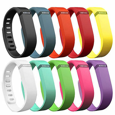 Hellfire Trading 10PCS Replacement Wristband Bracelet Band Strap for Fitbit Flex