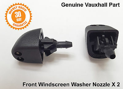 2 x Genuine Vauxhall Opel Vivaro Front Windscreen Washer Jets Jet Spray Nozzle