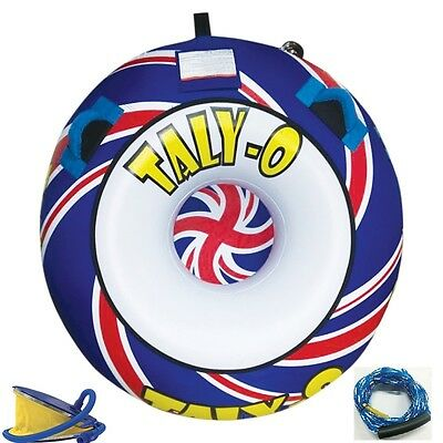 Taly-O 1 Rider Watersports Inflatable Towable Tube Ringo Donut FREE Rope + Pump!
