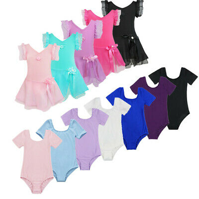 Kids Girls Ballet Dress Tutu Leotard Skirt Dance Gymnastics Outfit Fancy Costume