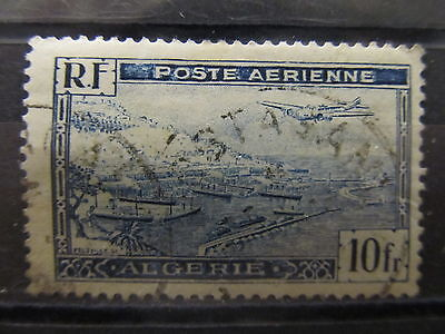 A2P19 ALGERIA AIR POST STAMP 1946 10fr USED