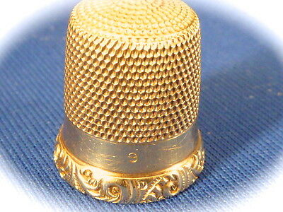 Antique solid 14k yellow gold no. sewing thimble nice condition 3.4 grams weight