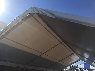 16x30 PVC Tent Top and Frame Only