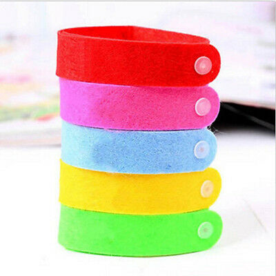 10Pcs Bracelet Anti Mosquito Mozzie Insect Bugs Repellent Repeller Wrist Band