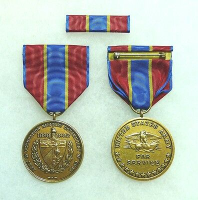 Department of the Army, Army of Cuba Occupation Medal, set of 2