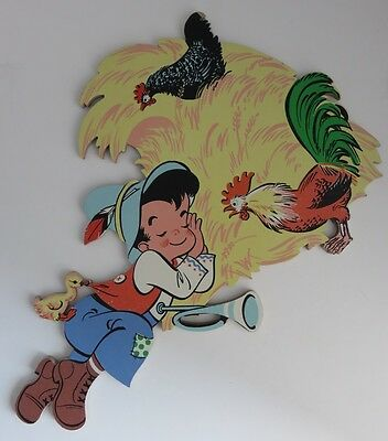 Vintage Compressed Wood Pinocchio Cut Out Wall Hanging              (Inv10108R)