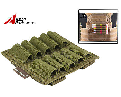 Tactical Military Molle Portable Pouch for Glowing Light Stick Case Coyote Brown