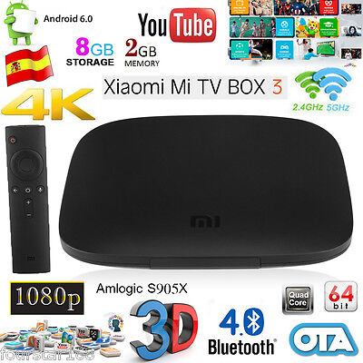 Xiaomi MIBOX 3 Smart TV BOX Android 6.0 Quad Core 2G/8G Wifi HDR 4K OTA HD Dolby
