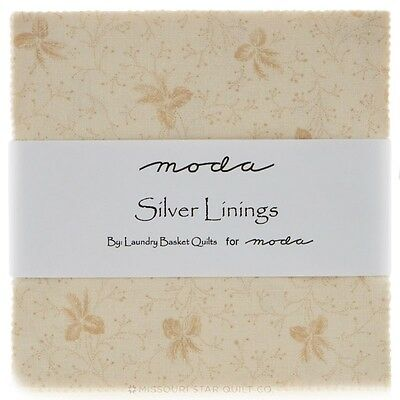 Patchwork/quilting Fabric Moda Charm Squares/packs - Silver Linings