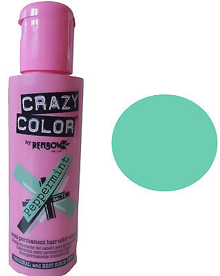 Crazy color Peppermint coloration crème semi-permanente cheveux et mèches 100 ml