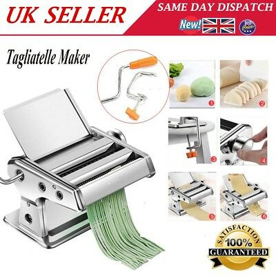 Stainless Steel Pasta Pasty Lasagne Spaghetti Tagliatelle Maker Machine Cutter