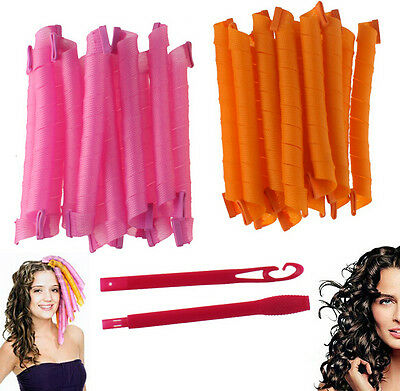 Fashion DIY Long Hair Rollers Curlers Magic Circle Twist Spiral Styling Tools