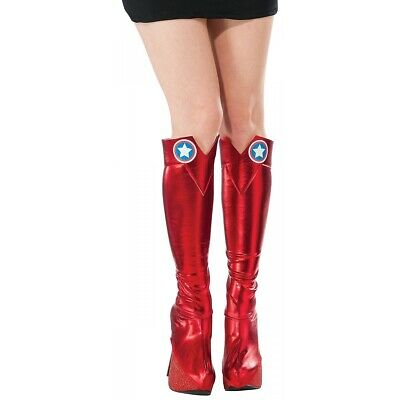 American Dream Boot Tops Costume Accessory Adult Women Captain America Halloween
