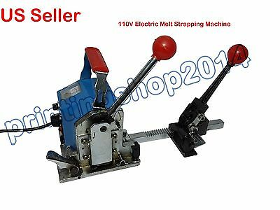 110V Portable Melt Strapping Machine Strapping Tensioner Crimper Banding Packing