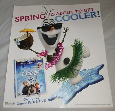 18 x 16 INCH FROZEN MOVIE WINDOW DISPLAY POSTER PROMOTIONAL AD