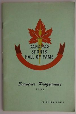 1956 Canada's Sports Hall Of Fame Programme