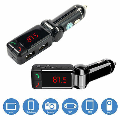 Bluetooth Car Kit FM Transmitter Dual USB Charger Aux Audio MP3 Player Handsfree