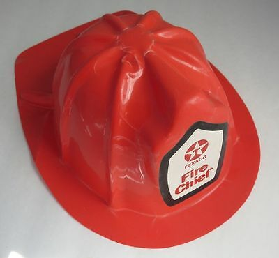 Vintage Child's Texaco Fire Chief Helmet Made In Hong Kong    (Inv2340)