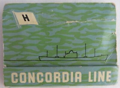 Vintage Concordia Line Cruise Ship Matchbook Cover    (Inv2814)