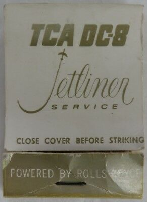 Vintage Dc-8 Trans-Canada Airlines Tca Matchbook Cover                (Inv8625)