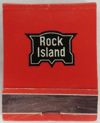 Vintage Rock Island Matchbook Cover                  (Inv8633)