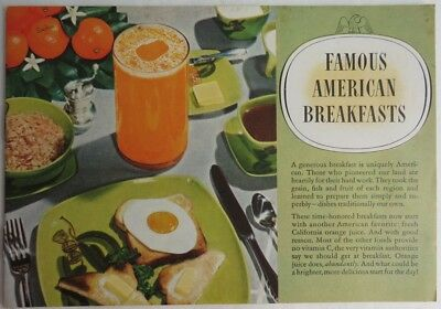 1947 Famous American Breakfasts Booklet     (Inv2359)