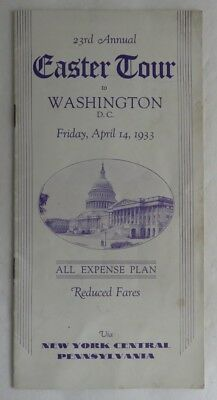 1933 New York Central Train Lines Washington Easter Tour         (Inv3206)