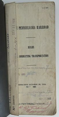 1956 Pennsylvania Railroad Rule Book For Conducting                 (Inv10050)