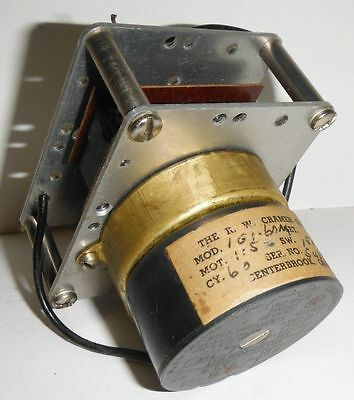 Vintage Cramer Timing Devices Clock Synchronous Motor Rp H 1/2