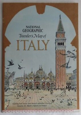 1970 National Geographic Traveller's Map Of Italy      (Inv3220)