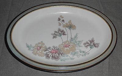 Denby Handcrafted ROMANCE PATTERN Oval Serving Platter MADE IN ENGLAND