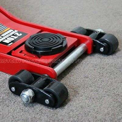 Trolley Jack – Low Profile with double PU front wheels – 70mm – 2000KG / 2 Ton