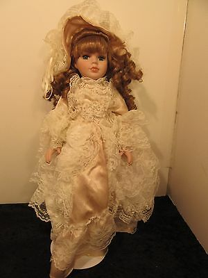 """Collectors Choice Porcelain Doll Collectible Victorian by DAN DEE 16"""" tall"""